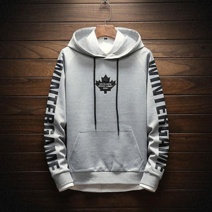 2018 New Fashion Men's Sweatshirts Leaf Letter Printing Hooded Man Hoodies Highdresslliy-dresslliy