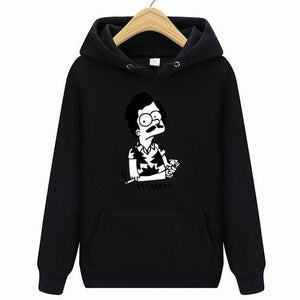Hoodies ESCOBART Simpson Mens Hoodie Women Sweatshirts Oversized black Autumn Winter Hipdresslliy-dresslliy