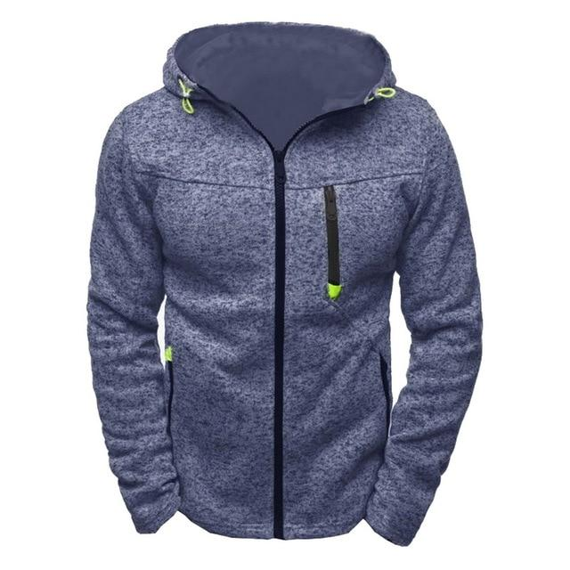 Hoodies Sweatershirt Men Autumn Zipper Solid Patchwork Cardigan Sweatershirt Causal Streetwear Hipdresslliy-dresslliy