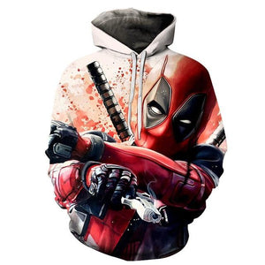 New 3D Printed Movie Superhero Deadpool 2 Men Women Hoodie Casual Pulloverdresslliy-dresslliy