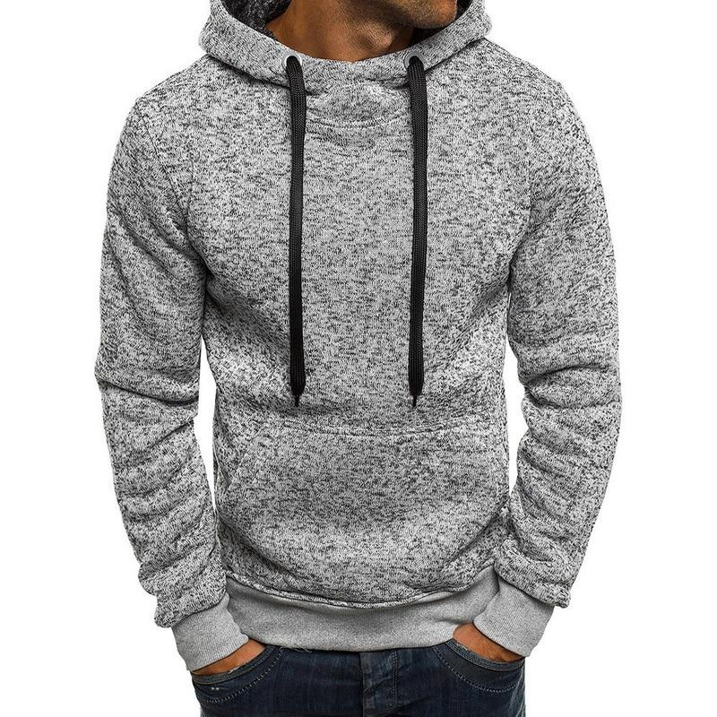Fashion Solid Sweatshirts Men Casual Pockets Hip Hop Mens Hoodies Sweatershirtdresslliy-dresslliy