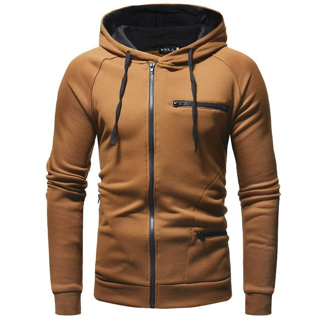 men hoodies 2018 autumn long sleeve zipper Sweatshirts hoodie with hooded branddresslliy-dresslliy