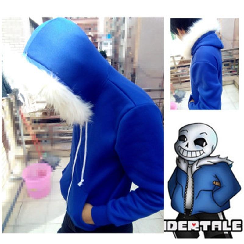 undertale sans blue coat cosplay jacket costume Unisex hoodie sweatshirts man zipperdresslliy-dresslliy