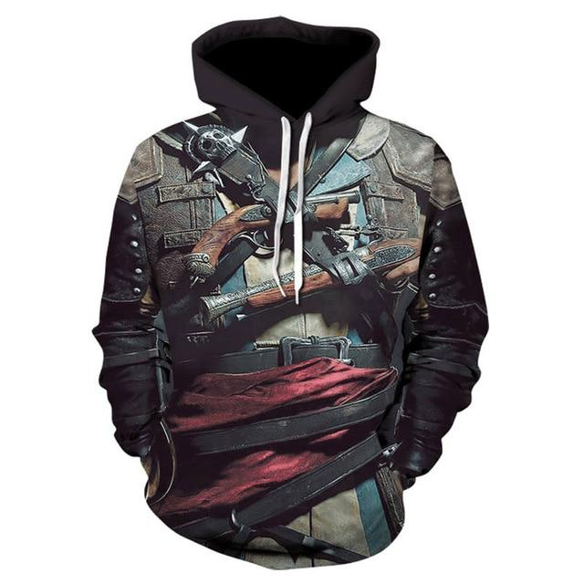 2018 new men's street funny sweatshirt fashion gothic hip hop hooded 3Ddresslliy-dresslliy