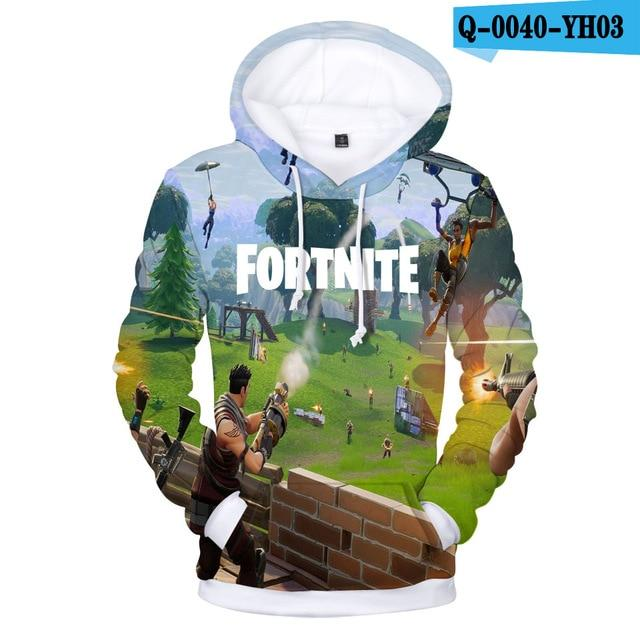 2018 Battle Royale Hoodies Men Rainbow Smash Pony Horse Printed Hooded Sweatshirtdresslliy-dresslliy
