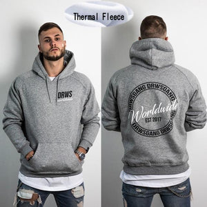 Brand Casual Winter Fleece Hoodies Men Skull skull Printing Harajuku 6 styledresslliy-dresslliy
