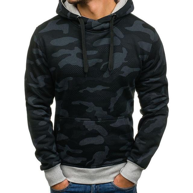 Men's Sweatshirts 2018 Brand Hoodies Men Long Sleeve Sweatshirt Camouflage Printeddresslliy-dresslliy