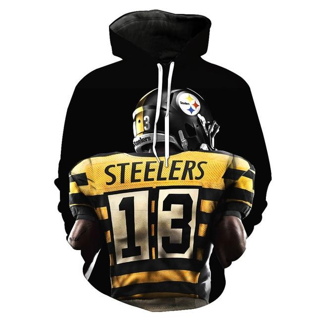 2018 New Fashion Sweatshirt Men / Women 3d Hoodies Print American Pittsburghdresslliy-dresslliy