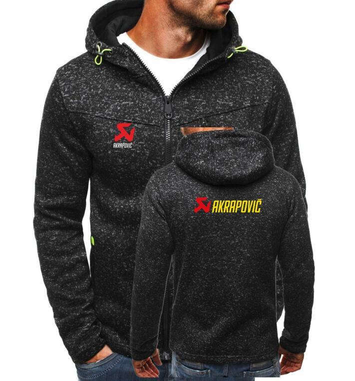 Men Hoodies Jacket AKRAPOVIC Print Cardigan Clothing Fashion Zip Hoodie Man Casualdresslliy-dresslliy