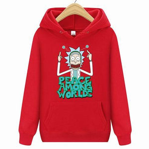 2019 Autum New Design Rick and morty Mens Hoodies Cotton Funny Printdresslliy-dresslliy