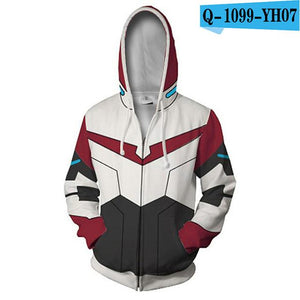 3D Print Voltron: Defender of the Universe Hoodies Sweatshirts Men Longdresslliy-dresslliy