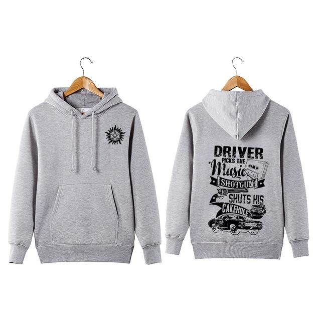 Supernatural Hoodie Driver Picks The Music Shuts His Cake Hole Funny Supernaturaldresslliy-dresslliy