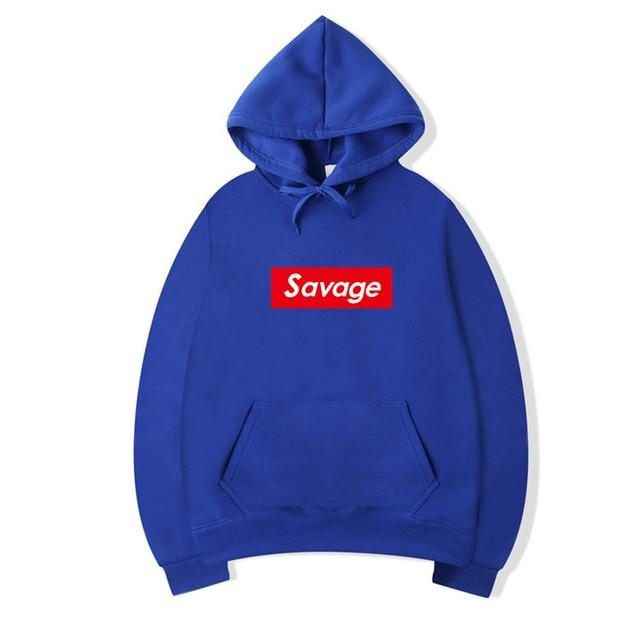 2018 Winter New Cotton 21 Savage Street Wear Suprem Hoodies Parody Nodresslliy-dresslliy