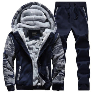 New Winter Sweatshirts Men's Thicken Plus Velvet Tracksuit Leisure Sports for Mendresslliy-dresslliy