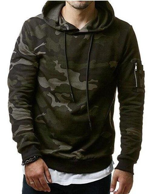 2018 New Mens Camouflage Hoodies and Sweatshirts Hooded Sweatshirts Male Clothing Fashiondresslliy-dresslliy