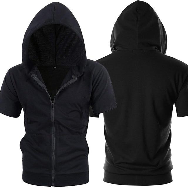 Fashion Short Sleeve Mens Hoodies Jackets Casualdresslliy-dresslliy