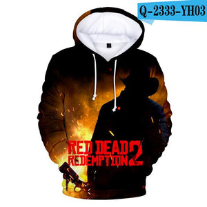 2018 RED DEAD REDEMPTION 2 3D Autumn Women/Men Hoodies Anime Hooidesdresslliy-dresslliy