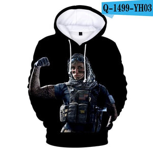 Hoodie Rainbow Six Siege 3D Hoodies Men/women Sweatshirts Hot Game 3D Printdresslliy-dresslliy