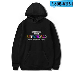 Travis Scott Astroworld WISH YOU WERE HERE hoodies fashion letter print Hoodiedresslliy-dresslliy