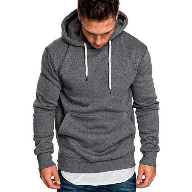 2018 Hot Autumn New Hoodies Sweatshirts Brand Male long Sleeve Top Soliddresslliy-dresslliy