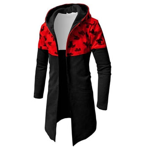 Hoodie Male Cardigan 2018 Hip-Hop Camo Stitching Hoodies Men Sweatshirt Hoodies Mensdresslliy-dresslliy