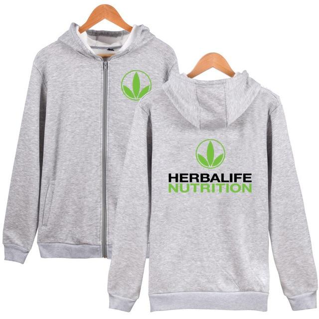 Herbalife Zip Up Hoodie Herbalife nutrition Zipper Coat Hoodie Green Logo Herbalifedresslliy-dresslliy