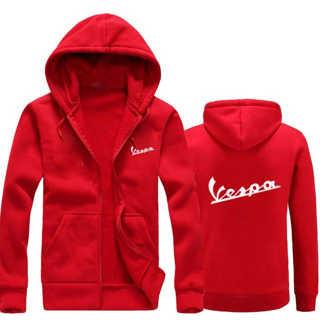 Free shipping 2018 Spring New Hoodies men/women Vespa print Hoodies Sweatshirts Motorcycledresslliy-dresslliy