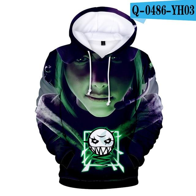 3D Printed Game Rainbow Six Siege Hoodies Jacket Coat Sweatshirts Men Womendresslliy-dresslliy