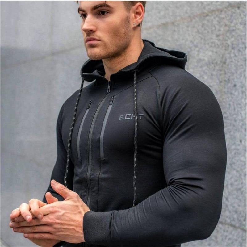 Men's clothing 2018 men's casual hooded bodybuilding sportswear spring and autumn men'sdresslliy-dresslliy