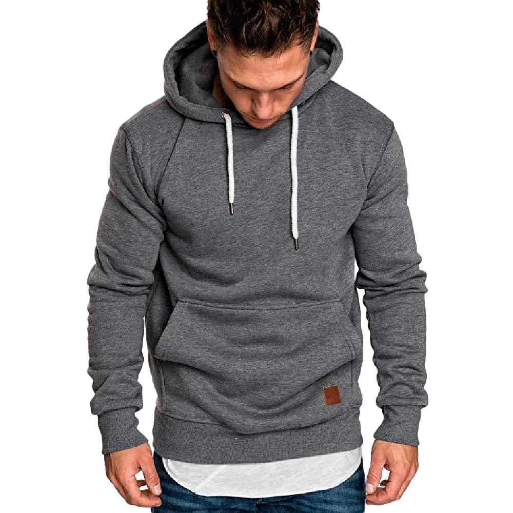 Mens sweatshirt Long Sleeve Autumn Winter Casual Sweatshirt Hoodies Top boy Blousedresslliy-dresslliy