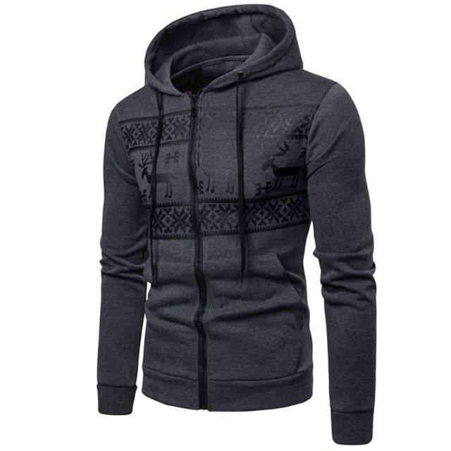 Hoodies Men Warm Hoodies Jacket 2018 Autumn Winter Zipper Slim Fit Hoodeddresslliy-dresslliy