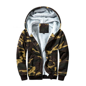 USA SIZE Military Men Super Warm Hoodies Sweatshirts Winter Thicken Fleece Zipperdresslliy-dresslliy