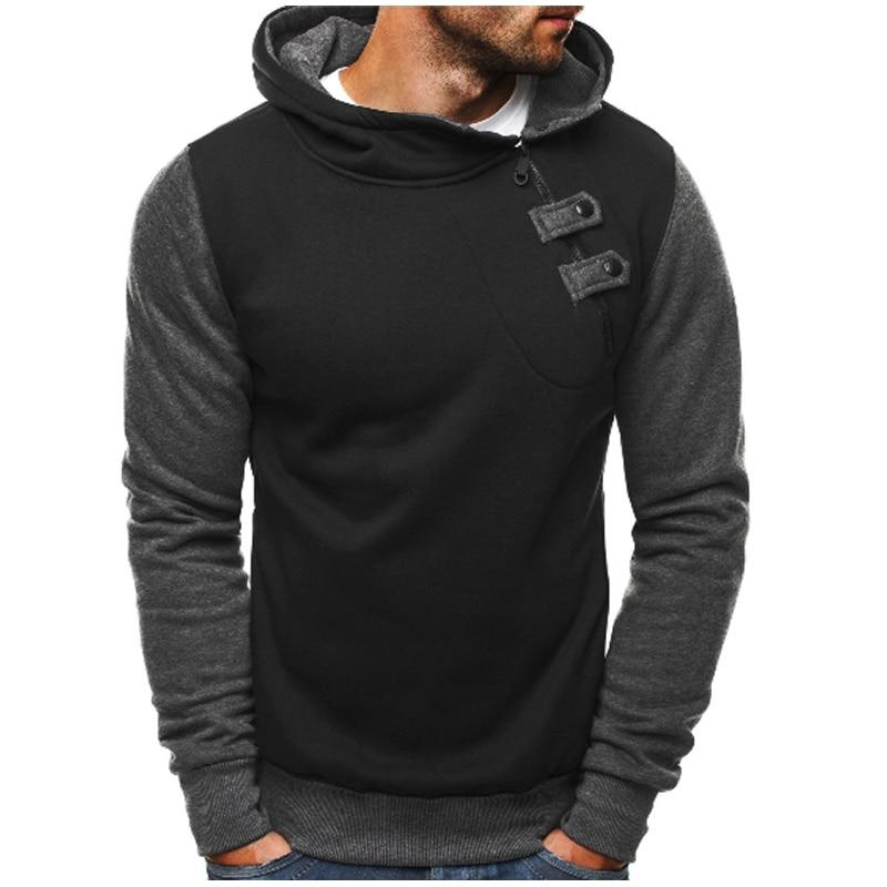 2018 Brand Hoodie Zipper Splice Hip-Hop Hoodies Men Fashion Tracksuit Male Sweatshirtdresslliy-dresslliy