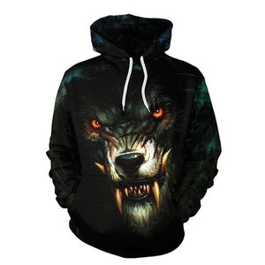 Dropshipping Wolf Printed Hoodies Men 3d Hoodies Brand Sweatshirts Boy Jacketsdresslliy-dresslliy