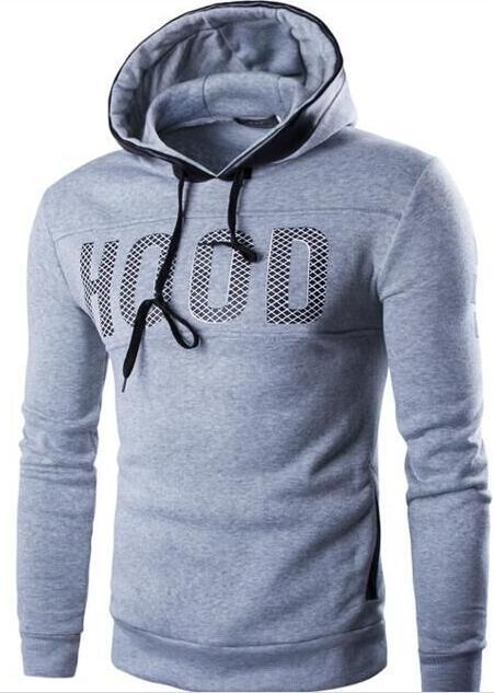 2018 hot new fashion men's hoodie slim casual hoodie sweatshirt men's jacketdresslliy-dresslliy