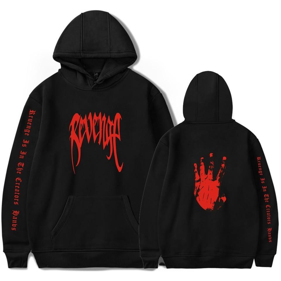 Xxxtentacion Revenge Hoodies Men/Women Sweatshirts Rapper Hip Hop Hooded Pullover Sweatershirts Male/Womendresslliy-dresslliy