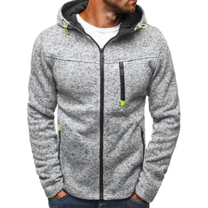 Plus Size Hoodies Sweatershirt Men Autumn Zipper Patchwork Cardigan Sweatershirt Causaldresslliy-dresslliy