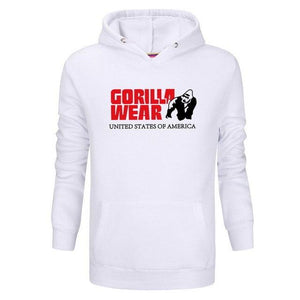 2018 Fashion Sweatshirt hoodies men Gorilla printing Hoody hip hop Long-sleeved Fitnessdresslliy-dresslliy