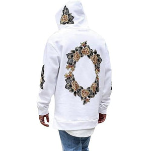 Men New Design Pullovers Autumn Flower Print Hoodies Hip Hop Men Hoodeddresslliy-dresslliy