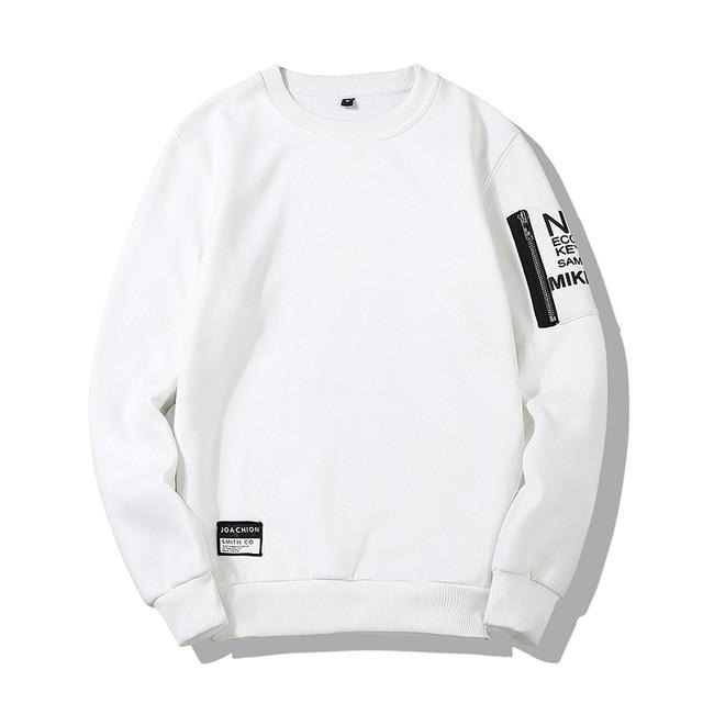 Solid Color Long Sleeve Pullover Sleeve Letter Printing Men's Sweatshirts Zippers Designdresslliy-dresslliy