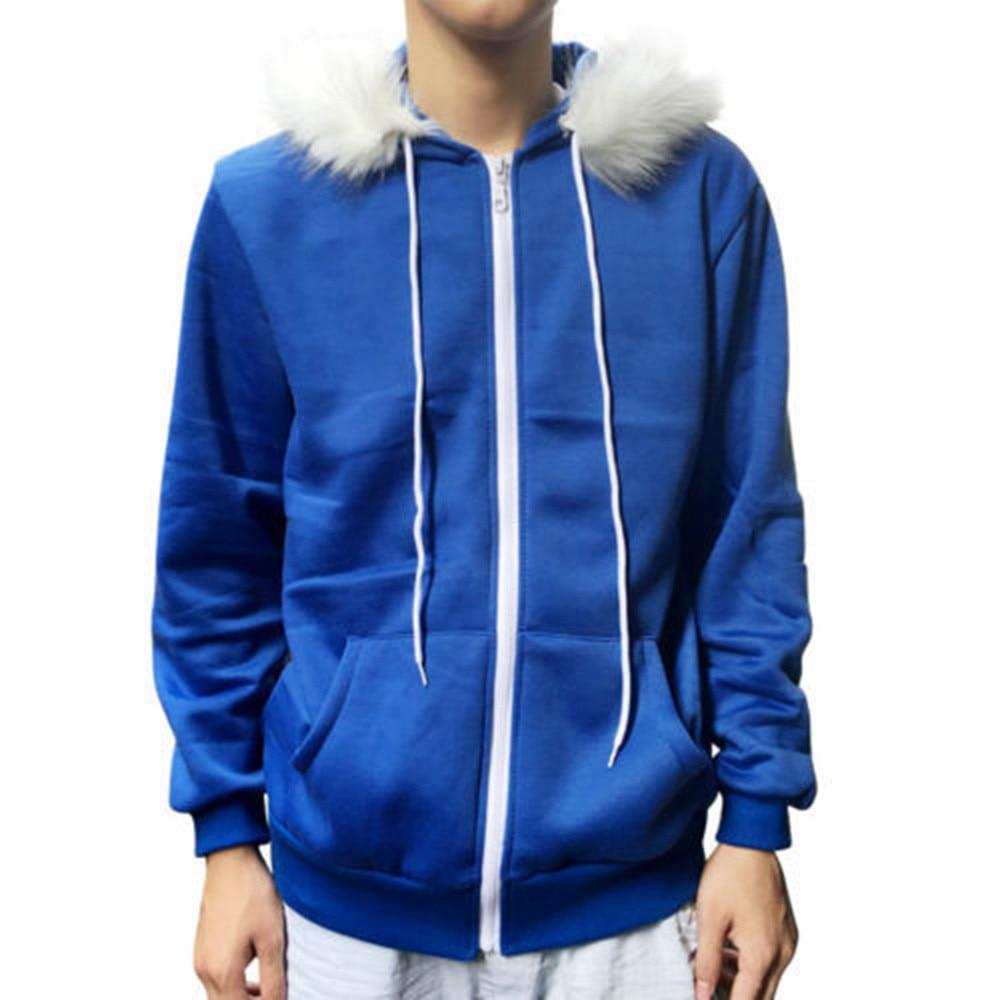 Men Women Cosplay Blue Fleece Hooded Jacket New Costume Warm New Coatdresslliy-dresslliy