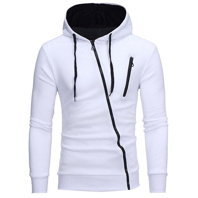 New Brand Hoodies Men 2018 Male Long Sleeve Hoodie Features Zipper Sweatshirtdresslliy-dresslliy