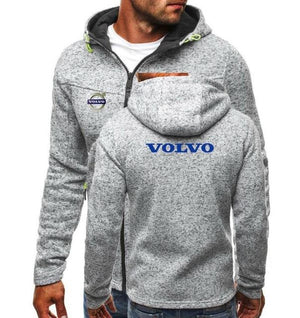 2018 Autumn Winter Men Hoodies Jacket volvo Print Clothing Fashion Man Casualdresslliy-dresslliy