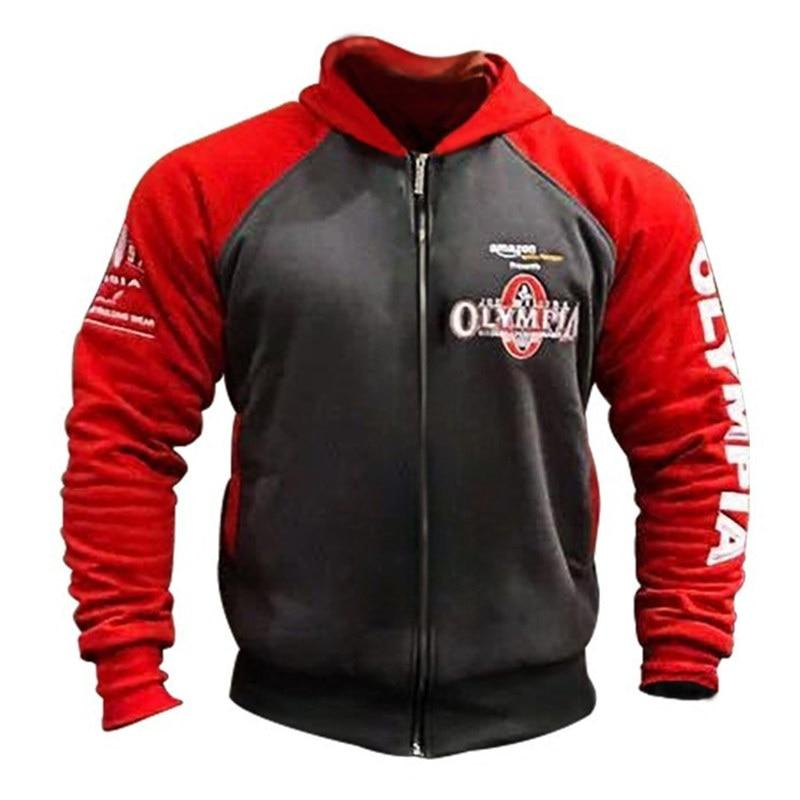 Mens Gyms Cotton Hoodie Sweatshirts Male Autumn Winter Fashion Casual Zipper Hoodeddresslliy-dresslliy