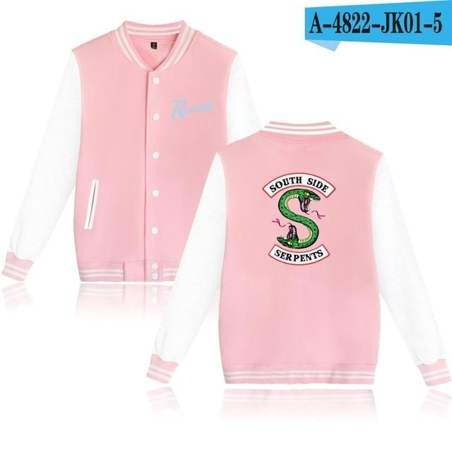 Riverdale Hoodie SouthSide Baseball Jacket Men Women Men's Hip Hop Snake Southdresslliy-dresslliy