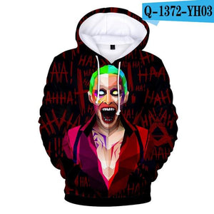 haha joker 3D Print Sweatshirt Hoodies Men and women Hip Hop Funnydresslliy-dresslliy