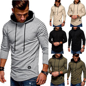 Men's Basic Hoodies Long hooded Shirt Elongated Tee arrival Casual Crew Neckdresslliy-dresslliy