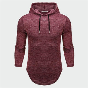 Men's Hoodies Hip-hop Male Long Sleeve Solid Color Hooded Sweatshirt Mens Hoodiedresslliy-dresslliy
