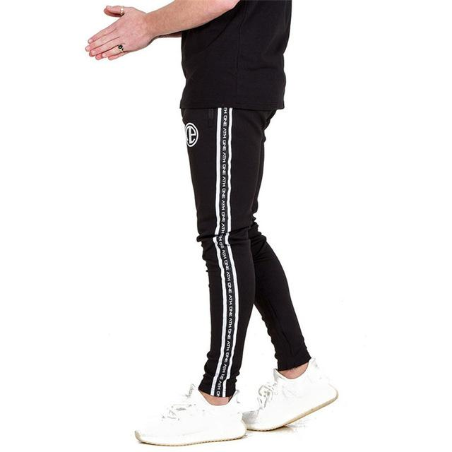 2018 Men Joggers Pantalon gyms Hoodies Zipper Pocket Embroidery Slim Feet Trousersdresslliy-dresslliy