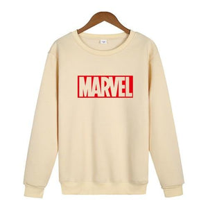 2018 New Marvel Letter Print letter Sweatshirt Men Hoodies Fashion Solid Hoodydresslliy-dresslliy